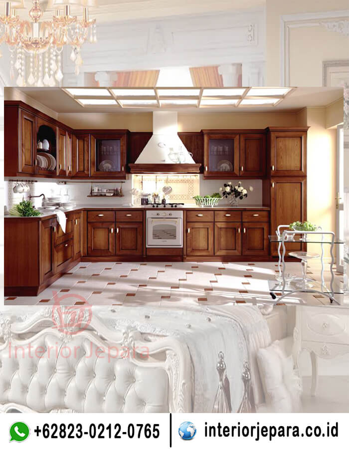 Kitchen Set Minimalis Jati Natural