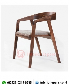 Kursi Cafe Modern Walnut