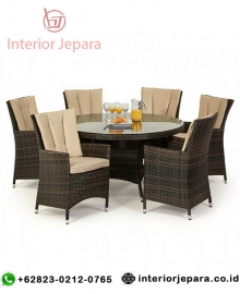 Kursi Makan Dining Set Round Table