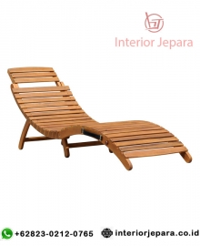 Kursi Lounger Folding Wooden